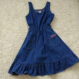 Vintage denim jumper dress union made 12
